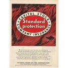 1955 Capital Stock Company Fire Insurance Color Print Ad