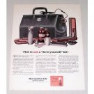 1961 Metropolitan Life Insurance Doctor's Bag Supplies Color Art Print Ad