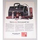 1961 Metropolitan Life Insurance Doctor's Bag Supplies Color Art Print Ad