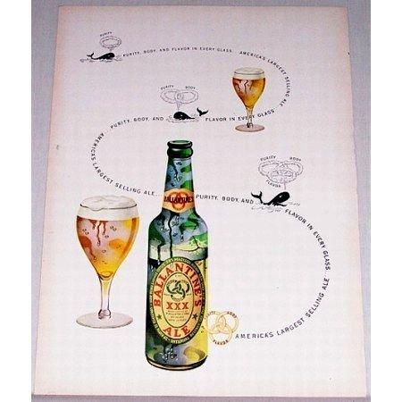 1948 Ballantine's Ale Color Print Brewery Ad