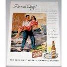 1945 Schlitz Beer Brewery Color Print Ad - Precious Cargo