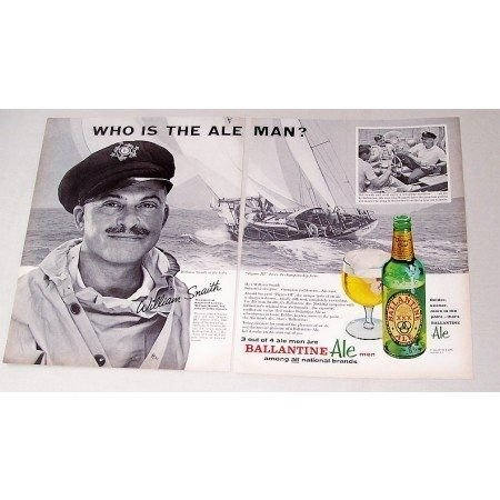 1962 Ballantine Ale Yachtsman William Snaith Print Ad