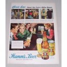 1949 Hamm's Beer Color Art Print Ad - Mellow Moment