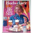 1961 Budweiser Beer Party Color Print Ad - Buy The Big Size