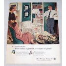 1956 Beer Belongs Series #119 Color Art Print Ad - Dad Rehearses His Speech