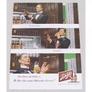 1949 Schlitz Beer Color Art Print Ad - Sampling Beer