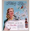 1945 Blatz Beer Color Art Print Ad - Springtime...And All Time
