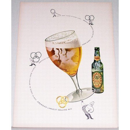 1948 Ballantine's Ale Color Print Ad