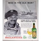 1962 Ballantine Ale Print Ad Celebrity Yachtsman William Snaith