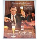 1961 Schlitz Beer Color Print Ad - Discover The Difference!