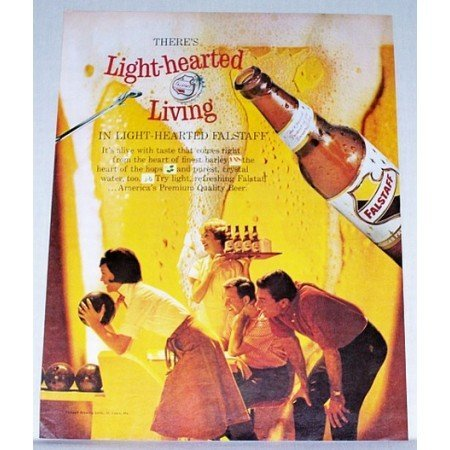 1962 Falstaff Beer Bowling Print Color Ad - Light Hearted Living