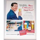 1948 Blatz Beer Color Print Ad Celebrity Don Ameche