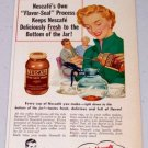 1952 Nescafe Instant Coffee Vintage Color Art Print Ad