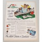 1949 Chase & Sanborn Coffee Color Art Print Ad