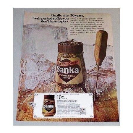 1969 Sanka Freeze Dried Coffee Color Print Ad