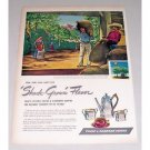 1946 Chase & Sanborn Coffee Color Art Print Ad - Shade Grown Flavor
