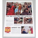 1939 Lipton Tea Color Sir Thomas Lipton Art Print Ad