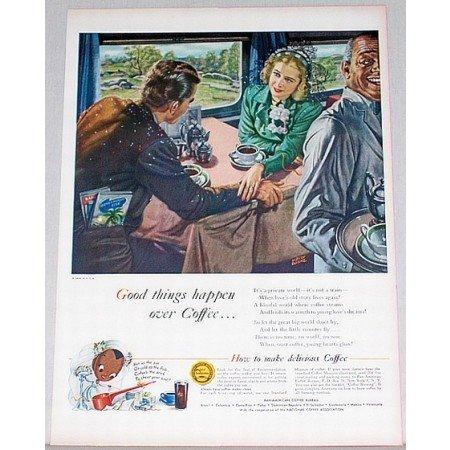1948 Pan American Coffee Bureau Dorne Art Color Print Ad