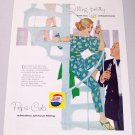 1958 Pepsi Cola Color Soda Art Print Ad - Sitting Pretty