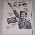 1953 RC Royal Crown Cola Soft Drink Soda Print Ad