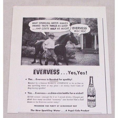 1947 Pepsi Evervess Sparkling Water Print Ad