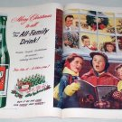 1951 7UP Soda 2 Page Color Christmas Carols Print Ad