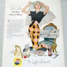 1955 Pepsi Cola Soft Drink Bride Art Soda Color Print Ad