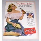 1946 RC Royal Crown Cola Soda Soft Drink Color Print Ad Celebrity Lizabeth Scott