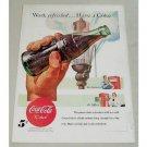 1948 Coca Cola Coke Soft Drink Bottle Soda Color Art Print Ad - Work Refreshed