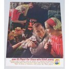 1961 Pepsi Cola Soft Drink Color Soda Print Ad - Indoor Cookout
