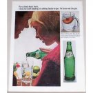 1966 Sprite Soft Drink Color Soda Print Ad - Drink That's Fresh