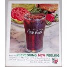 1961 Coca Cola Coke Soft Drink Color Soda Print Ad - Put Zing In Busy Day