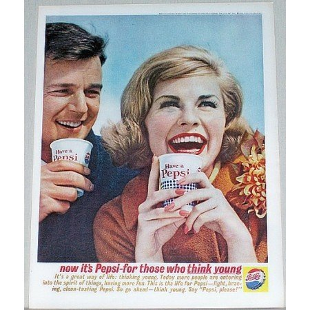 1962 Pepsi Cola Soda Soft Drink Color Print Ad - It's A Great Way Of Life