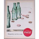 1952 Coca Cola Coke Soda Hobbleskirt Drink Bottles Art Color Print Ad - Hospitality Can Be So Easy