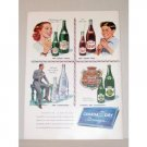 1948 Canada Dry Beverages Color Art Print Ad - Around The World
