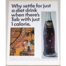 1965 Tab Soft Drink Color Soda Print Ad - Why Settle