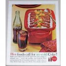 1962 Coca Cola Soft Drink Color Print Ad - Hot Foods Call...