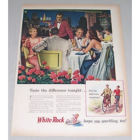 1946 White Rock Sparkling Water Underhill Art Color Print Ad