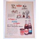1963 Dr Pepper Soda Harmon Johnny Hart Art Color Print Ad