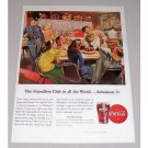 1946 Coca Cola Color Soda Diner Art Color Print Ad - The Friendliest Club