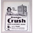 1946 Orange Crush Soda Soda Dispenser Print Ad