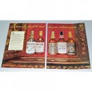 1946 Kentucky Straight Whiskeys 2 Page Color Print Ad
