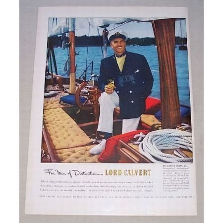 1950 Lord Calvert Blended Whiskey Color Print Ad Arthur Knapp