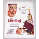 1950 Sunny Brook Blended Whiskey Ad - Look Cheerful!