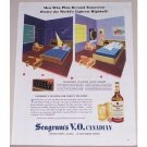 1945 Seagram's Canadian Whiskey Color Ad - Men Who Plan