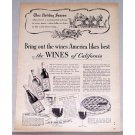 1949 Wines of California Ad - This Holiday Season