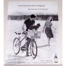1960 Imperial Hiram Walker Whiskey 2 Seat Bicycle Print Ad