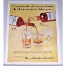 1961 Old Forester Whiskey Color Print Ad