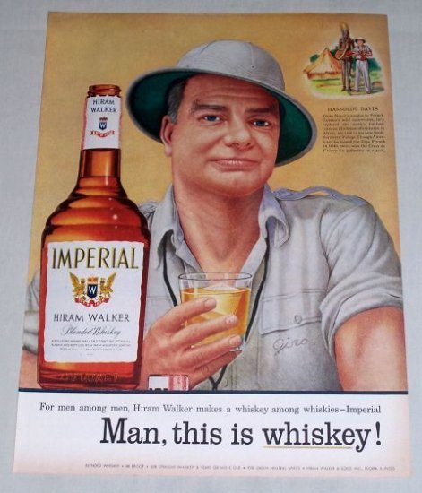 1956 Imperial Whiskey Hassoldt Davis Color Art Print Ad