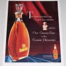 1953 Old Grand Dad Whiskey Classic Decanter Color Print Ad